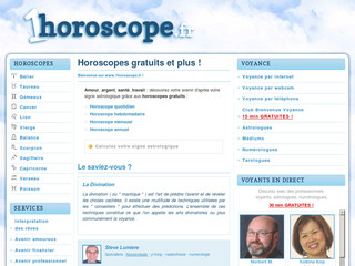 Horoscope avec 1horoscope.fr