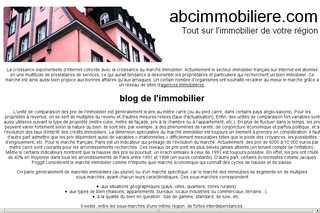 Abcimmobiliere.com : annuaire immobilier