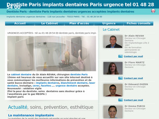 Dentiste urgences et implants dentaires à Paris - Dr-revah-alain. chirurgiens-dentistes .fr