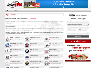 Indexauto, la cotation automobile argus - Indexauto.fr