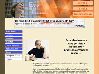 Business sur internet avec esprit-business