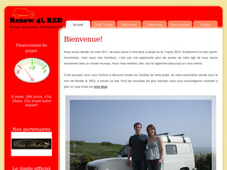 Site de l'association Renew 4L RED - Renew4lred.com