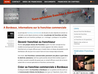 Bordeaux Franchise - Informations sur la franchise commerciale