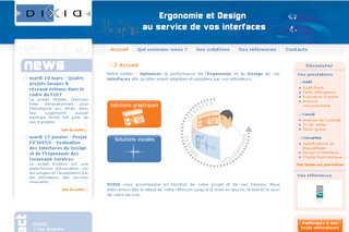 Dixid.com : Ergonomie interface