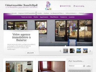 Agence immobilièrer Rouxel Ripoll - Cm-immobilier-balaruc.fr