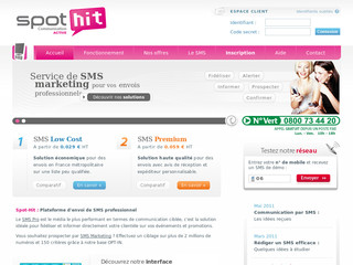 Spot-Hit.fr - SMS professionnel