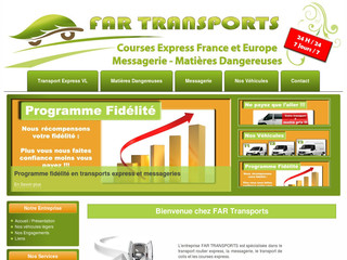 FAR Transports Urgents Courses Express Messageries  - Far-transports-express.fr