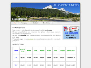 Location de containers avec Allo-containers.be