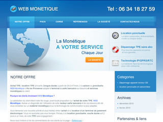 Location de terminal de carte bancaire - Web-monetique.fr