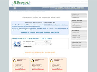 Alsaconcept.fr : Hébergement de sites Web