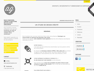 Design d'interface de site Internet - Graphiste-web -rouen.fr