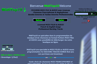 MidiTop10 : Bandes Trames Sonores Midi Et Mp3 Pro Backing Tracks