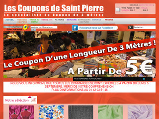 Vente de tissus en ligne coupons de 3 m tres les coupons de saint - Www les coupons de saint pierre ...