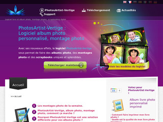 Photo album, logiciel livre photo personnalisé, PhotosArtist-Vertige - Album-photo-artist.com