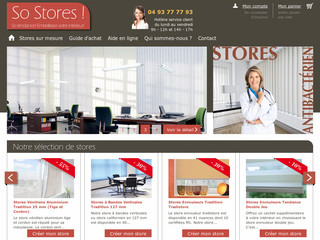 So Stores - Confection de stores sur mesure - So-stores.com
