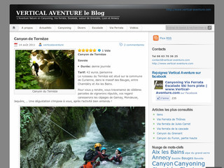 Vertical Aventure - Le Blog - Canyoning-grenoble- lyon-annecy.com