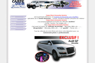 Location de limousines sur carpediemevents.be