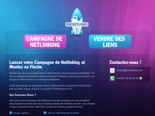 Achat de backlinks avec Rocketlinks.net