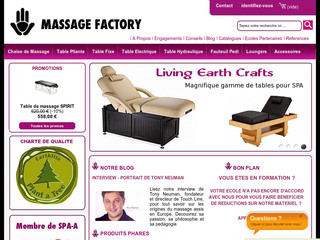 Massage Factory : table et chaise de massage sur Massagefactory.eu