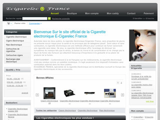 Cigarette electronique avec Ecigarelec-france.com