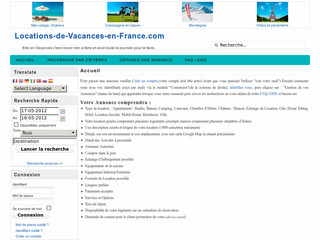 Locations de vacances en France - Locations-de-vacances -en-france.com