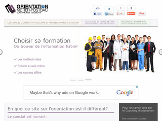 L-orientation-metier-post-bac.fr - Test et bilan d'orientation comparés au coaching d'orientation