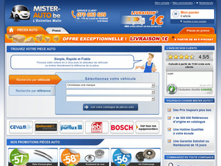 Boutique en ligne de pieces auto - Mister-auto.be