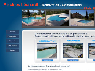 Piscines Léonardi, Rénovation et Construction - PACA - Piscinesleonardi.com