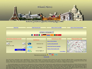 Aperçu visuel du site http://www.france-paris-booking.com