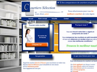 Comparateur de courtiers en prêt immobilier - Courtierselection.fr