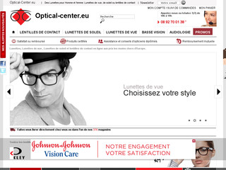 Aperçu visuel du site http://www.optical-center.eu/