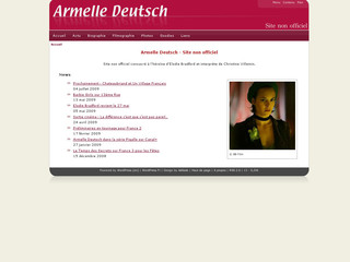 Armelle-deutsch.com - Site non officiel consacré à Armelle Deutsch