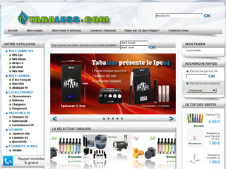 Achat cigarette electronique : Tabaless.com