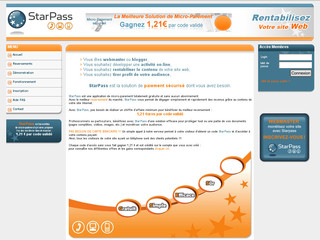Starpass.fr - Rentabiliser son site web