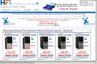 Hfinformatique.be - HFI,  PC gamer et ordinateur Asus, Asrock