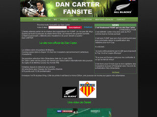 Dan-carter.net - Le site non-officiel de Dan Carter