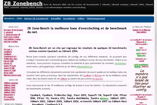 Zonebench.com - Benchmark et overclocking