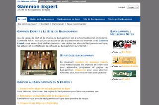 Gammon-expert.net - Backgammon en ligne