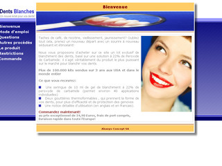 Info Dents Blanches sur Dents-blanches.info