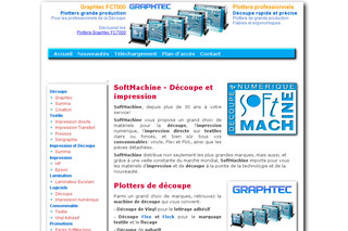 Softmachine.fr - Imprimantes grand format - plotters de découpe