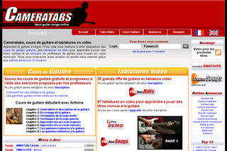 Cameratabs.com - Cours de guitare en tablature video