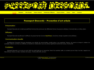 Passeport Descordz - Promotion d'art urbain sur Passeport-descordz.com