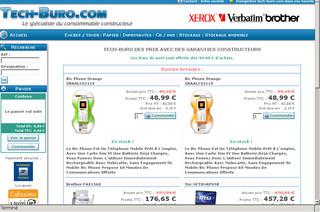 Tech consommable et mat riel informatique for Buro en ligne