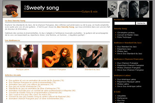 Sweety-song.com - Duo musique latino Paris - Sweety Song