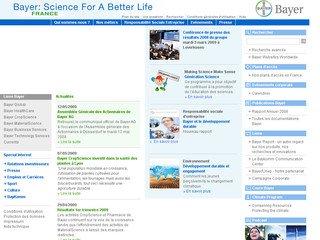 Bayer.fr - Groupe pharmaceutique Bayer France