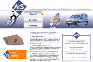 Aperçu visuel du site http://www.as-transports.fr