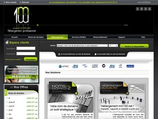 Mm100.net - Hébergement de sites Internet