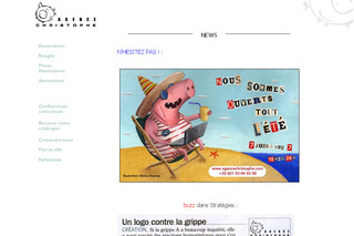 Agence Christophe Illustrations Roughs Animations Flash - Agencechristophe.com