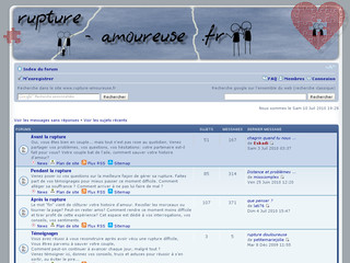 Rupture Forum sur Rupture-amoureuse.fr