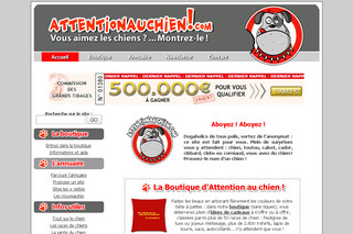 Aperçu visuel du site http://www.attentionauchien.com